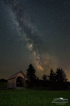 Bridge Lights - The A.M. Foster Bridge is located in Cabot, Vermont. It's a exact reproduction of the original Martin Bridge that now sits over the Winooski River in Marshfield. This photo was taken in August, as the Milky Way arched over the covered bridge.