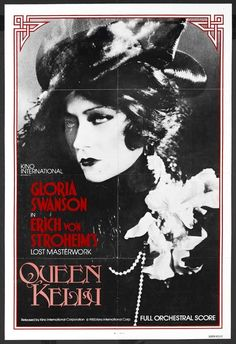 Queen Kelly Gloria Swanson cult movie poster print