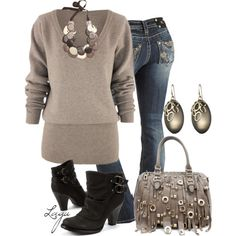 slouchy casual polyvore outfits | fashion look from December 2012 featuring Miss Me jeans, London ...