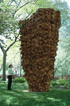 Outdoor work by Ursula von Rydingsvard. Love the cedar smell when you're near these.