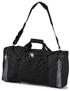 Carry On Lightweight Small Hand Luggage Cabin on Flight   Holdalls Duffel  Weekend Overnight Bags - Large Duffle Sports Gym Bag with Shoulder Straps.  About 5 126c4b215d2f7