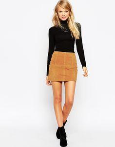 Image 1 ofASOS Mini Skirt In Suede