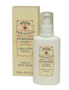 Santa Maria Novella Crema Corpo Vanilla (Body Cream). Smells sooo good!