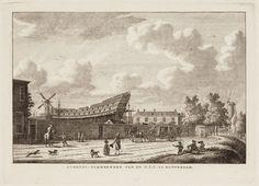 Scheeps-Timmerwerf van de O.I.C. te Rotterdam.Scheeps-Timmerwerf van de O.I.C. te Rotterdam. Verv.jaar:19e eeuw Verv.plaats:Rotterdam Techniek: ets Afmeting:15,2 × 23,1 cm