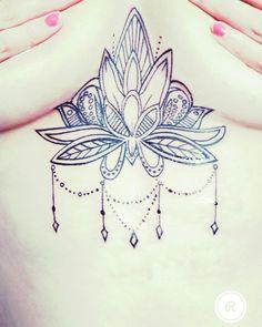 My Sternum lotus flower tattoo