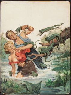 Image of WILL HULSEY (American, 20th Century). Lizards From Hell, True Men | Lot #78110 | Heritage Auctions