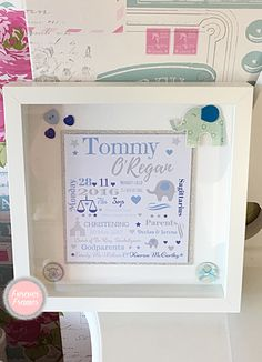 Fab gift idea if your looking for something a bit more personal. Christening Frames, Great Gifts, Amazing Gifts