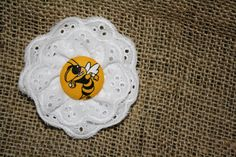 Georgia Tech Eyelit Bow. $7.00, via Etsy.