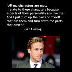 Movie Actor Quotes - Ryan Gosling on Reid Rosefelt Marketing on Facebook #acting