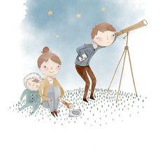 Kids Stargazing - Julianna Swaney