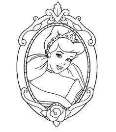 Printable Coloring Page Disney Princess Cinderella