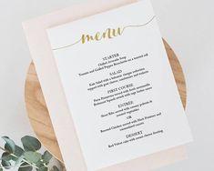 Drinks Menu Template Printable  Wedding Bar Sign  Editable Pdf