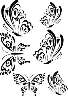 T Butterflies swirly. Butterflies2