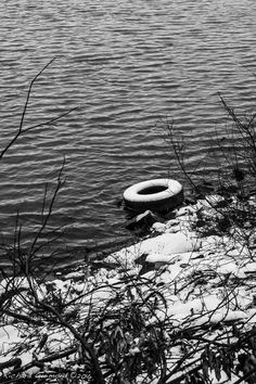 Old Tire By the Riverside: McMasterville, Québec,  Photo by Richard Guimond ©2016 20161207 11:16:35 0141(3)f Canon EOS 40D 50mm f1.8 at 1/320 f8
