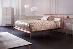 Get Your Shine On: Decorating with Gold, Silver and Other Metallics: Copper Bed
