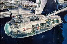 Detail from Star Trek: TMP poster of the Enterprise Refit.