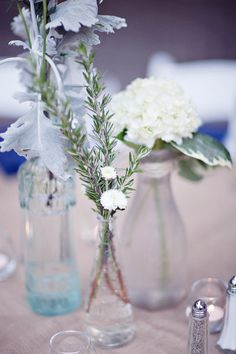 assorted glass as vases