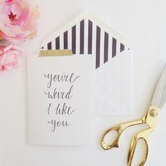 Miss Poppy Design- Note Card & Envelope Liner- www.misspoppydesign.com