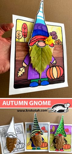 Craft Work For Kids, Projects For Kids, Diy For Kids, Crafts For Kids, Autumn Activities, Craft Activities For Kids, Preschool Crafts, Autumn Crafts, Thanksgiving Crafts