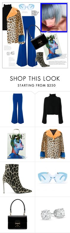 """Leopard print"" by frenchfriesblackmg ❤ liked on Polyvore featuring Paper London, Golden Goose, Acne Studios, Simonetta Ravizza, STELLA McCARTNEY, Karen Walker and Dolce&Gabbana"