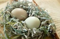 Easter egg grass made from newsprint rather than synthetic plastic.  Think outside the bin!