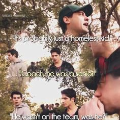 Teen Wolf ~ Coach Finstock ~ It's probably just a just homeless kid Teen Wolf Quotes, Teen Wolf Funny, Teen Wolf Memes, Tv Quotes, Dylan O'brien, Teen Wolf Dylan, Teen Wolf Stiles, Scott Mccall, Malia Tate
