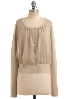 "Modcloth Sheer ""Sand a Chance"" Cardigan"