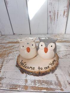 Ceramic Owl Salt & Pepper Shakers Personalized by SendInspirations