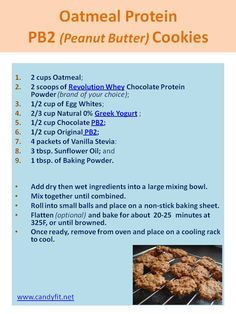 Oatmeal Protein PB2 Cookies