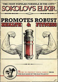 Dishonored In-game Art - Advertisement - Sokolov's Elixir