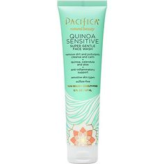 Pacifica Quinoa Sensitive Face Wash ~#~ THIS... IS THE ONE that my tween daughter can use.  I purchased about 17 other facial cleansers for her that she can't use.  Luckly there are 4 other family members that can use them.  But if you have sensitive skin and find others don't work, give this a try.  I'm actually glad to see that this works because it has so many other bonus ingredients that other sensitive products don't contain.