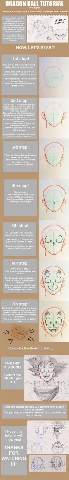Dragon ball tutorial by LadyGT.deviantart.com on @DeviantArt