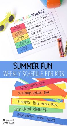 Printable Summer Schedule for Kids