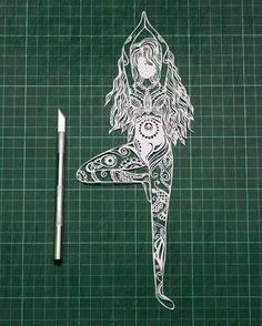 a Meditator.. #yoga#meditation#papercut#handcut#women#paperartistcollective#nature#papercraft#papercutart#artcollectorx#papercutartist#papercutting#artist_features#artwork#art_we_inspire#shailendrawork#artoninstagram#artist_community#artistcommunity#instaart#handmade#handdrawn#the_art_competition#art_realism#handmade#instadaily#indiapictures#artistic_share#strictlypaper#oneofthebhalufamily