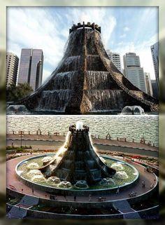 Volcano Fountain, Abu Dhabi, UAE