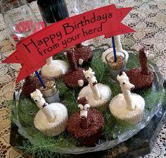Alpaca cupcakes for Birthdays #Alpacas. By Kirs10m