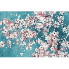 Found it at Wayfair - Into the Cherry Blossom Teal by Bridges Painting Print on Wrapped Canvas