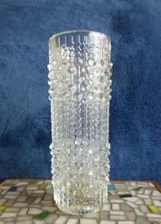 ≥ op art Czech glass Candlewax vaas/vase (retro design) - Antiek | Glas en Kristal - Marktplaats.nl
