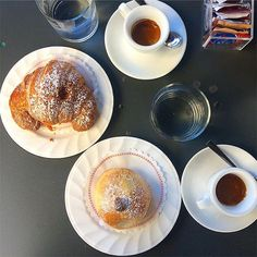 Collezione, an Italian breakfast. Taking us back to our last visit to  Naples with a cornetto, panzerotti e caffe! The coffee was the best we ever had in Italy... #italian #collezione #italianbreakfast #mangia #panzerotti #naples #napoli #eat #reminiscing #foodstagram #foodlover #foodblog #foodblogger #coffee #italiancoffee #bestcoffee #melbourne #melbournecafe #shortblack #cornetti #panzerotti #brioche #italiancuisine
