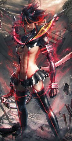 Kill la Kill. Ryuuko, by tani