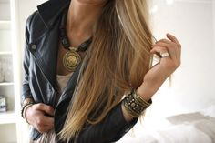 fashion tips; women's street fashion style trends; bold Bohemian style jewelry accessories