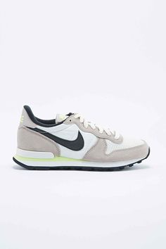 Nike Internationalist Trainers in Grey and Lime - Urban Outfitters