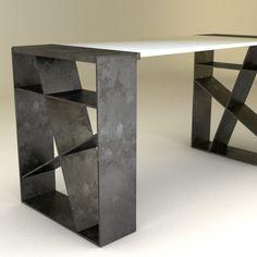 Taburete transfer – OBJ.Diseño Steel Furniture, Kids Furniture, Rustic Furniture, Office Furniture, Furniture Design, Swag Ideas, Wood Store, Table Frame, Office Table