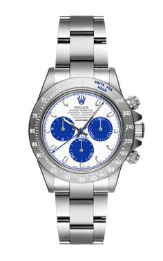 Technical Honeycomb White and Blue Dial with Super Matte Magnetic Light Grey Daytona by Bamford Watch Department for Preorder on Moda Operandi