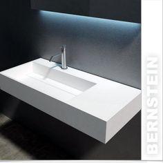 Wandwaschbecken aus Mineralguss weiß matt Waschbecken 90 x 48 x 13 cm in Heimwerker, Bad & Küche, Badkeramik | eBay