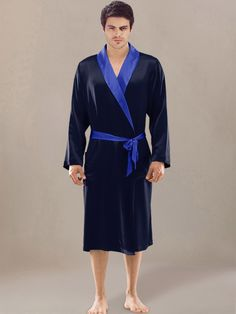 stylish silk robe for men sw09 - Mens Bathrobes