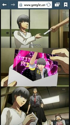 Persona 4 that's some serious blackmail! What's So Funny, Funny Facts, Shin Megami Tensei Persona, Persona 4, Art Thou, Gaming Memes, Fun Games, Funny Images, Online Art