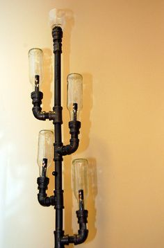 Industrial Floor Lamp steampunk pipe lamp recycled by RoscaLights, $6600.00