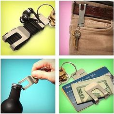 New-EDC-multi-tool-4-in1-bottle-opener-pocket-clip-wire-packing-with-his-wallet
