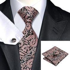 Подарочный галстук черный в розовых абстракциях  - купить в Киеве и Украине по недорогой цене, интернет-магазин
